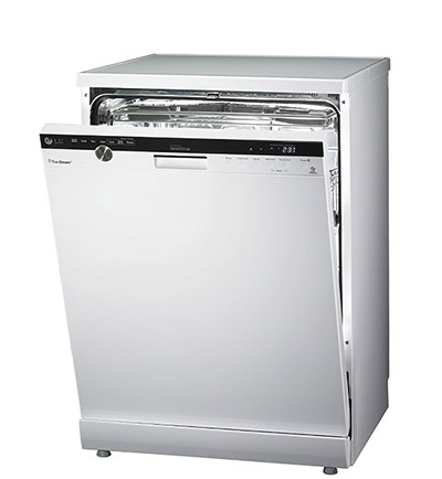 the slim inverter direct drive motor opens up some 10 liters of space compared to dishwashers