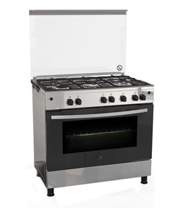 White Westinghouse 90X60 Gas Cooker, Stainless Steel