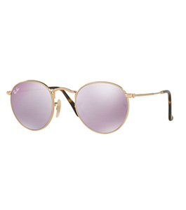 نظارة شمسية راي بان للجنسين إطار دائري ذهبي