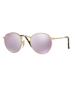 Ray Ban Unisex Round Metal Gold Sunglasses