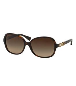 نظارة شمسية كوتش للسيدات إطار مربع لون بني غامق