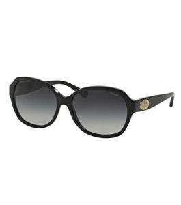 Coach Ladies Black Round Sunglasses