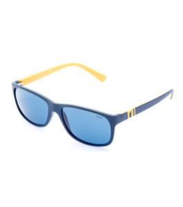 9e77c6311 نظارة شمسية بولو رالف لورين للرجال إطار شبه دائري أزرق