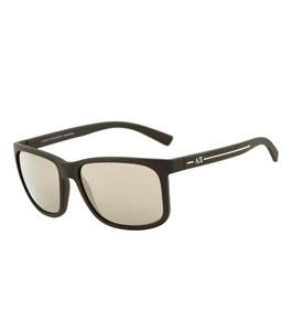 نظارة شمسية آرماني إكشينج للرجال إطار مربع بني مطفي