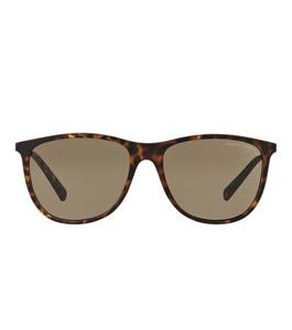 نظارة شمسية آرماني إكشينج للرجال إطار بايلوت بني مجزع