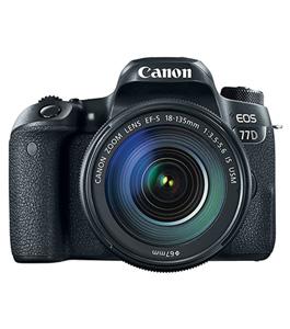 كانون كاميرا 77دي, 24.2 ميجابيكسل, بعدسه 18-135, تصوير فيديو عالى الدقه. شاشة 3 بوصة لمس, لون أسود