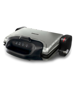 Philips Health Grill, 2000W 3 Grill positions, Adjustable Thermostat, High Power