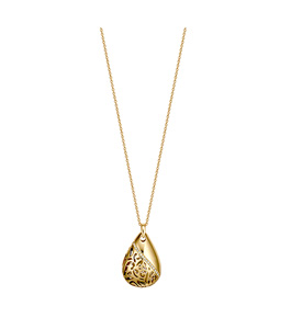 Dici Ladies Full Yellow Gold Color Brass Necklace With White Stones