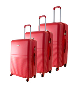 537668e33 طقم شنط سفر ترولي تريندى ,3 قطع, أحمر - إكسترا السعودية