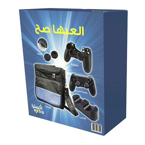 PS4 accessories bundle include bag ,DS4 charging station ,DS4 silicone case, DS4 black
