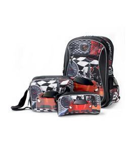 حقيبة ظهر للاطفال 18 بوصة, حقيبة طعام, مقلمة