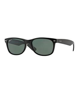 6979cc090 نظارة شمسية ريبان إطار بلاستيك لون أسود، عدسات زجاج بولاريزد لون أخضر