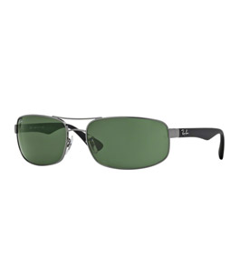 2aa66a737 نظارة شمسية ريبان اطار معدني اللون، ذراع بلاستيك، عدسات زجاج لون أخضر