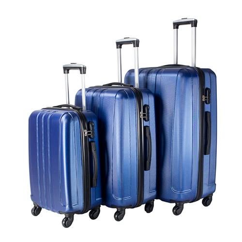 Travel Vision set of 3pcs abs trolley case 20/24/28 blue color