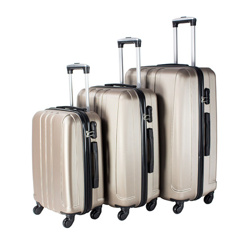 Travel Vision set of 3pcs abs trolley case 20/24/28 champagne color