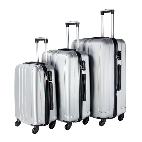 Travel Vision set of 3pcs abs trolley case 20/24/28 grey color