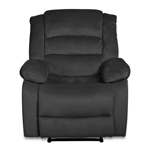 Recliner Chair With Full Push Back, Grey Color