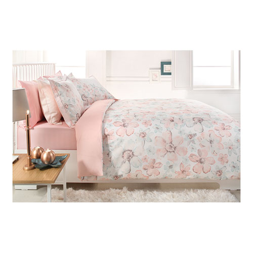 Sarev Comforter Set Of 4Pcs, Twin Size, 100% Cotton, Made In Turkey, Gardenia Design