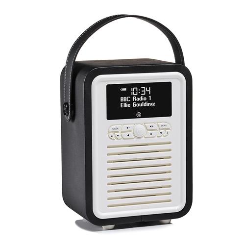 في كيو ريترو ميني راديو صغير محمول سماعه بلوتوث, لون أٍسود