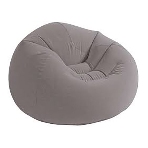 انتكس كرسي هوائي قابل للنفخ، رمادي
