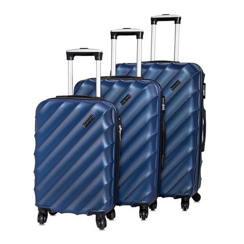 ترافيل فيجن طقم شنط سفر ترولي, 3 قطع, أزرق