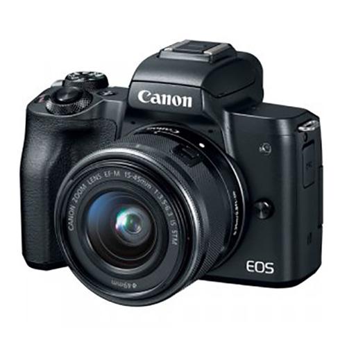 كانون كاميرا ام50, 24ميجابيكسل, عدسه 15-45, واي فاي, أسود