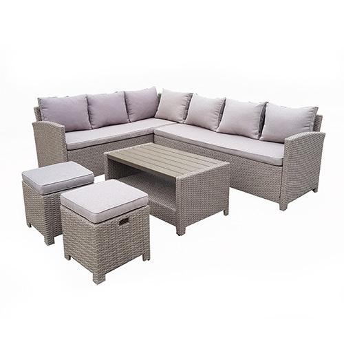 هومز جلسة خارجية مؤلفة من 9 مقاعد وطاولة