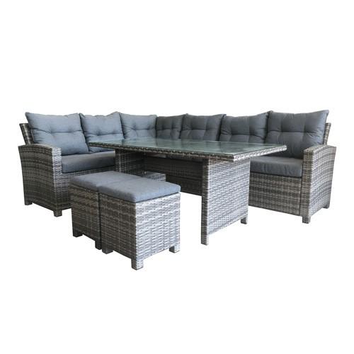 هومز جلسة خارجية مؤلفة من ثمانية  مقاعد وطاولة
