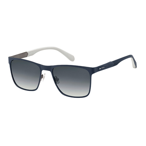 2afc7baa48 Fossil Men Matt Blue Sunglasses With Plastic Dark Grey Sf Lens - eXtra Saudi