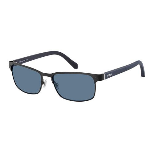 9ac40f3e1f Fossil Men Matt Black Sunglasses With Plastic Blue Avio Lens - eXtra ...