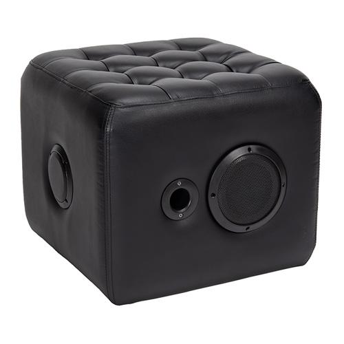 مقعد مع مكبر صوت، أسود