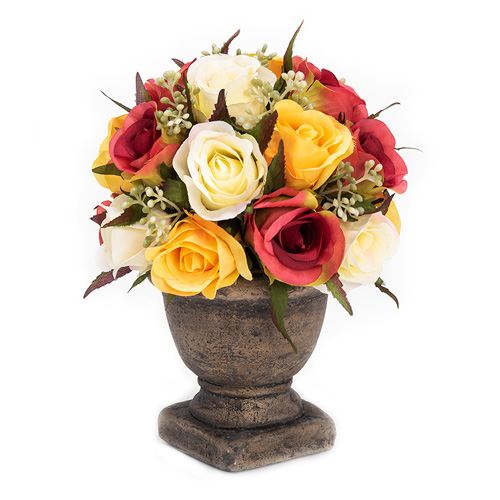 بوكية من الورد الصناعي ألوان متعددة