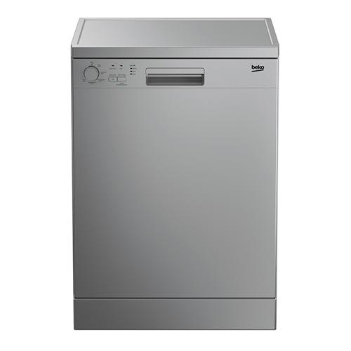 Beko Dishwasher 5 Program, 14 Place Setting, Control Type Knob, Color Silver