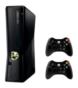 Microsoft Xbox 250GB 2 Controllers 3 Games