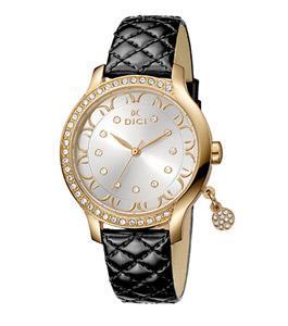 Dici Classic Ladies Watch Black Leather Strap