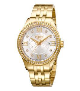 Ferre Milano Classic Ladies Watch Gold Bracelet