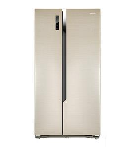 Hisense Refrigerator SidexSide 18.3 Cuft, Gold